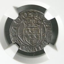 Ek // 20 Reis Vintem Silver Portugal Monarchy 1481-1485 Joao II : AU50
