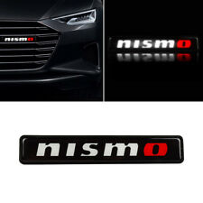 1Pcs JDM Nismo LED Light Car Front Grille Badge Illuminated Decal Sticker