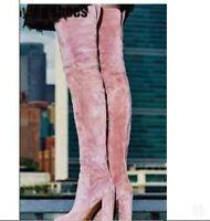 Women's Winter Europe Suede Fabric Overknee High Thigh Riding Boots Punk Outdoor
