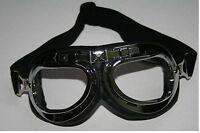 Oldtimer Motorrad Brille Kradmelder Wehrmacht WW2 NEU Pilotenbrille