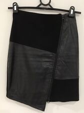 Adorable Bardot Skirt Sz 6 Ladies Asymmetrical Pencil Skirt Black Versatile EUC