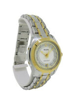 Bulova Precisionist 98P129 Round Analog Mother of Pearl Diamond Date Watch