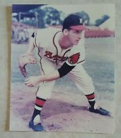 WARREN SPAIN 8 X 10 PHOTO GLOSSY LICENSED MILWAUKEE BRAVES PICTURE D