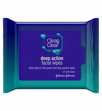 CLEAN & CLEAR Deep Action Facial Wipes - 25 wipes