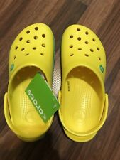 NEW tags Oregon UofO Crocband Crocs Lemon/Grass Green Clogs M4 W6 Kids 4 Packers