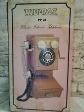 Vintage Thomas PP 90 Classic Edition Wooden Old Fashioned Style Telephone