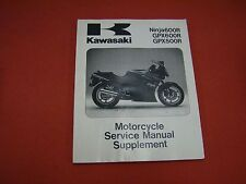 1988-1996 Ninja 600R, GPX600R & GPX500 Kawasaki Service Manual Supplement