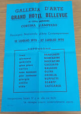 FB567_GALLERIA ARTE GRAND HOTEL BELLEVUE_L. MENARDI_CACCIATO_1975_LOCANDINA