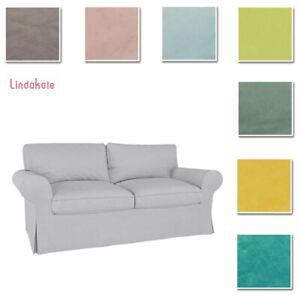Custom Made Cover Fits IKEA EKTORP Loveseat Two Seat Sofa Cover Velvet Fabric