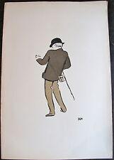 SEM, LITHOGRAPHIE ORIGINALE, (VERS 1890), CHAPEAU MELON