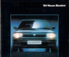 Nissan Bluebird 1989-90 UK Market Sales Brochure LS LX GS GSX ZX Turbo Diesel