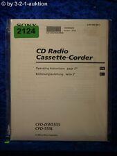 Sony Bedienungsanleitung CFD DW555S / 555L Cassette Corder (#2124)