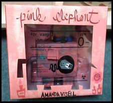 AMANDA VISELL PINK ELEPHANT VAMPIRE EDITION VINYL FIGURE LOWBROW ART RARE Dunny