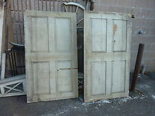 "Pr c1780 Raised panel Indian pocket shutters tan 60 x 34"" Mortised & Pegged"