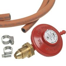 LPG Propane Gas Regulator, 1m Hose & Clips