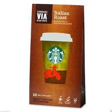 Starbucks via Torréfaction Italienne Café Instantané, 12 sachets, Expiration 2018
