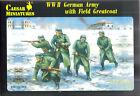 Caesar Miniatures 1/72 WW2 German Ejército en el campo Con abrigos
