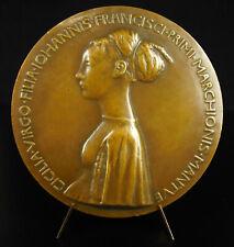 Médaille d'ap Pisanello 1447 Cecilia Gonzaga Licorne immortelle vierge Chasteté