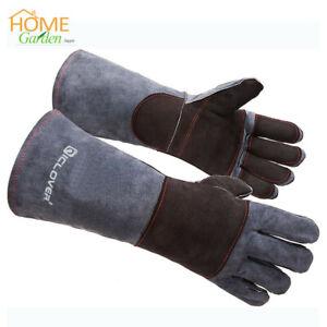 Animal Handling Anti Bite Gloves Training Cat Dog Pet Leather Safety Protective