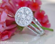 Natürliche Echtschmuck-Ringe im Eternity-Stil mit SI Reinheit