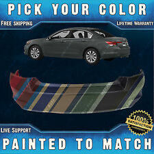 NEW Painted To Match - Rear Bumper Cover For 2008-2012 Honda Accord Sedan 4 Door