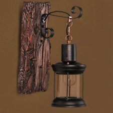 Industrial Decor Wall Lamp Sconce Cafe Light Iron Wood Pendant Retro Vintage