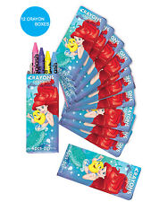 Ariel Little Mermaid Party Supplies Favours MINI CRAYONS BOXES Genuine Licensed