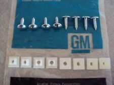 GM Olds Pontaic GTO Lemans Tempest Firebird Trans Am License Plate Screws NOS