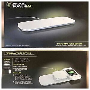 Wireless Charger Duracell Powermat for 3 Devices (PMA compatible-NOT QUI) White