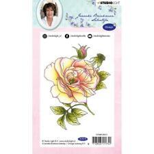 New Studio Light Janneke Brinkman A6 Rubber Stamp #11 ROSE FLOWER free US ship