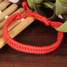 Handmade Double Layer Chinese Red Rope Bracelets Lucky Adjustable Women Jewelry