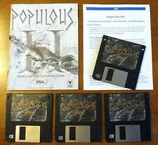 POPULOUS II Trials of the Olympian Gods PC IBM Game 3.5 inch disks bullfrog 1992