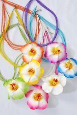 12 HAWAIIAN NECKLACE LOT LUAU BEAD PLUMERIA FLOWER PARTY FAVOR COSTUME JEWELRY