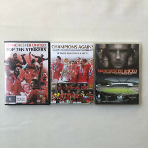 Manchester United DVDs Top Ten Striker Promised Land Champions Again Ronaldo EPL