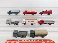 CJ398-0,5# 8x Wiking H0/1:87 LKW: MB/Mercedes + MAN Esso/DB + Magirus, Mängel
