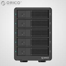 "ORICO Aluminum 5Bay USB 3.0 3.5"" Inch SATA3.0 Hard Drive HDD Enclosure Array Box"