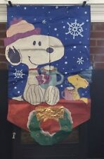 Snoopy & Woodstock Christmas Flag 28�x43� *pre-owned*