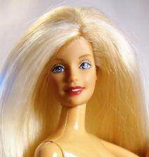 Barbie desnuda Cabello Rubio Ojos Azul Gris articular brazos Twist N Turn desnuda