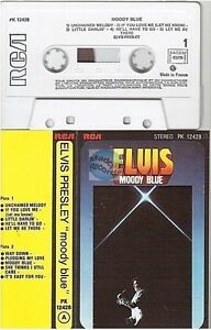 ELVIS PRESLEY cassette K7 tape MOODY BLUE france french PK 12428