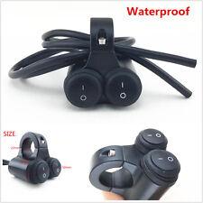 Waterproof 7/8''Motorcycle Handlebar H/L Beam Headlight Spot Light On Off Switch
