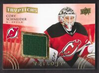 2014-15 Trilogy Tryptichs #T-NJD3 Cory Schneider Jersey /400 New Jersey Devils