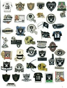 Raiders Vintage Pin Choice Pins Many new on card Oakland NFL AFC las vegas rice