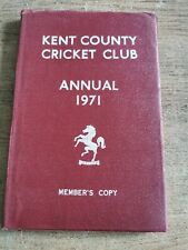 Kent County Cricket Club Annual 1971. Members Copy