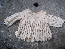 Antique Girls Baby Sweater Handmade Knit Hand Crotchet True Vintage Clothes