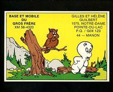 QSL Radio comic postcards Casper Friendly Ghost owl , Pointe Du Lac Canada