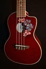 Luna Flora Flame Maple Concert Acoustic Electric Ukulele w/Gig Bag - Free Ship