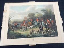 The Bury Hunt Vintage Print Fox Hunt With Foxhounds Print Only No Frame 1840