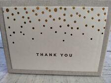 Gold Foil Dots Thank You Cards Wedding Bundle - 2 Sets of 50 - 100 Cards Total