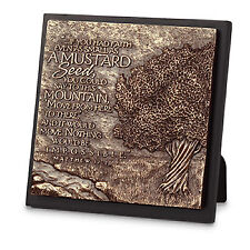 Mustard Tree Inspirational 3D Bronze Finish Plaque 5.75x5.75 inches
