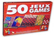 Boite de 50 Jeux de société    Dames Bingo Echecs Backgammon Morpions Roulette